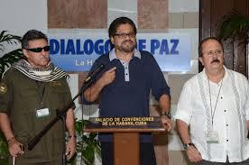 Negociadores das FARCs em Havana.