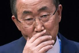 A cara de perplexidade do secretário-geral da ONU.