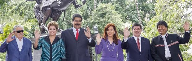 Encontro dos chefes de estado do Mercosul, em Caracas. Foto do portal 1.