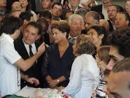 A presidente Dilma no velório;