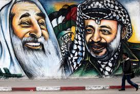 Yassim e Arafat, líderes opostos da mesma rebelião.