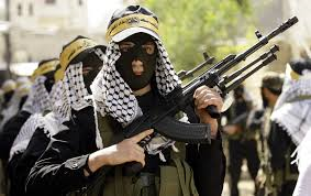 Militantes do Hamas.