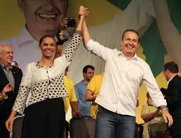 Marina Silva e Eduardo Campos, em foto de campanha.