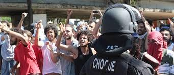 A batalha da Avenida São João.