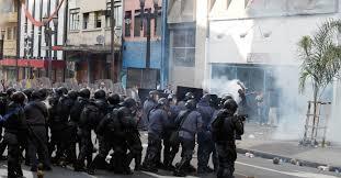 Conflito no centro de São Paulo. Foto do portal de notícias UOL.