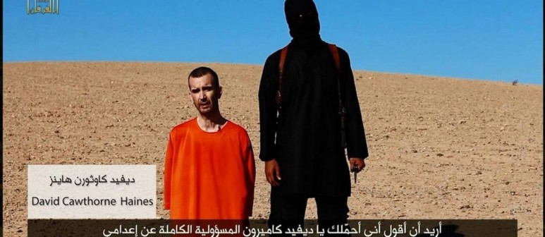 O assassinato de mais um refém do ISIS.
