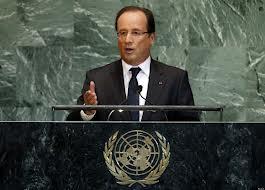 Hollande na Assembleia Geral da ONU.