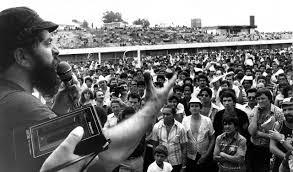 O ex-presidente Lula, durante greve de metalúrgicos no ABC.