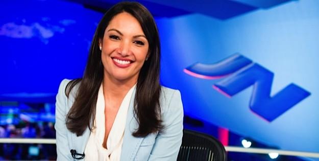 Patrícia Poeta, afastada do Jornal Nacional da TV Globo.