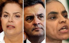 Da esquerda para a direita, a nova posição eleitoral dos candidatos;