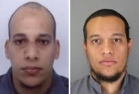 Os irmãos Cherif e Hayd, suspeitos do atentado em Paris.