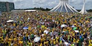 Protesto de 15 de março em Brasília.