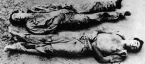 Lamarca e Zequinha mortos no interior da Bahia.