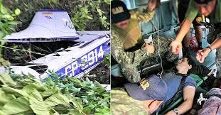 A derrubada do avião no Peru, em foto da Folha/UOL.