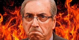 Eduardo Cunha, pivô da crise. Arte do portal Itabuna Urgente.