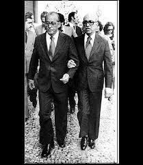 Roberto Marinho e o então presidente Figueiredo, o último dos generais;
