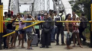 O enfrentamento nas fronteiras de Colombia e Venezuela.