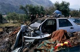 O atentado à bomba contra o juiz italiano.